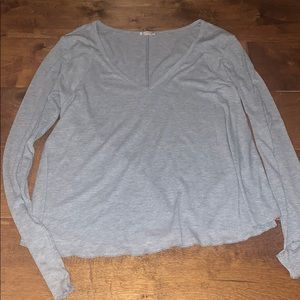 Free People Tops - Free People Grey V Neck